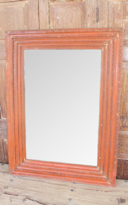 Bevelled Mirror made from a Vintage Gesso Frame
